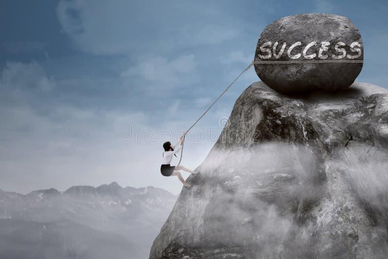 Climb to Success royalty free stock photo