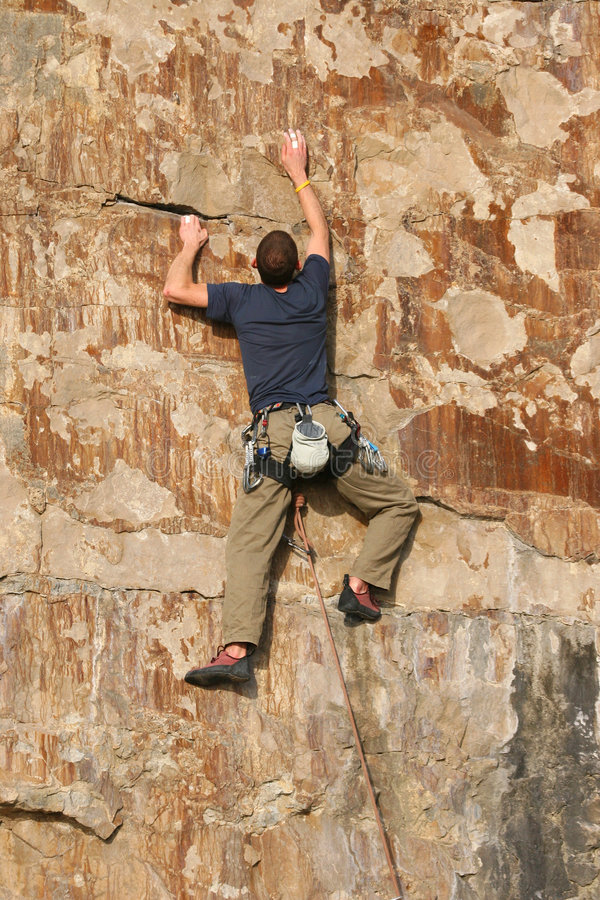 Download The Climber 2 stock image. Image of mountaineer, sheer - 466119