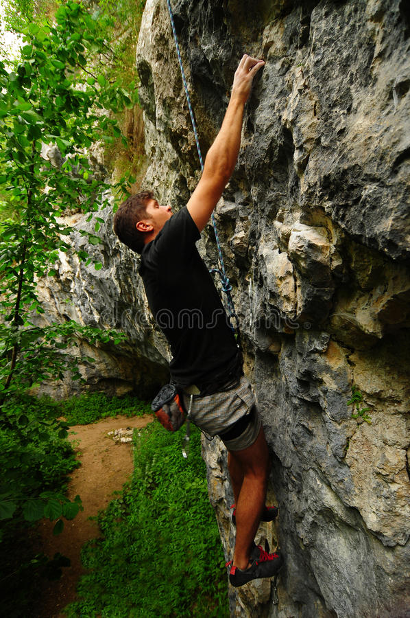 Download Climber stock image. Image of rocks, outdoor, hold, safe - 21685107