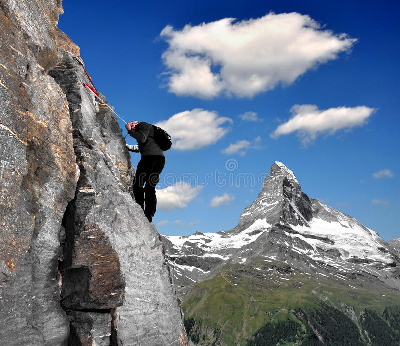 Download Climber stock photo. Image of sunny, scenic, sport, high - 22540050