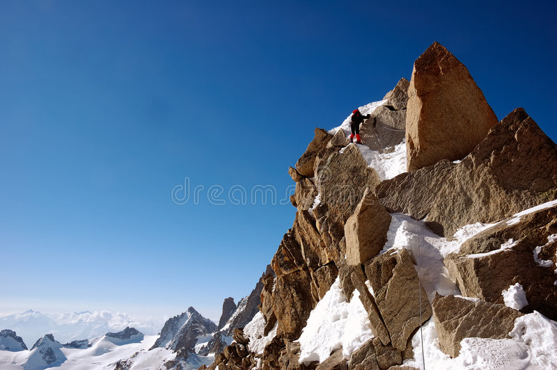 Download Climber stock photo. Image of cosmiques, blanc, aiguille - 2305566