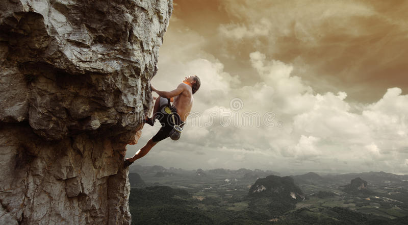 climber royalty-vrije stock foto's