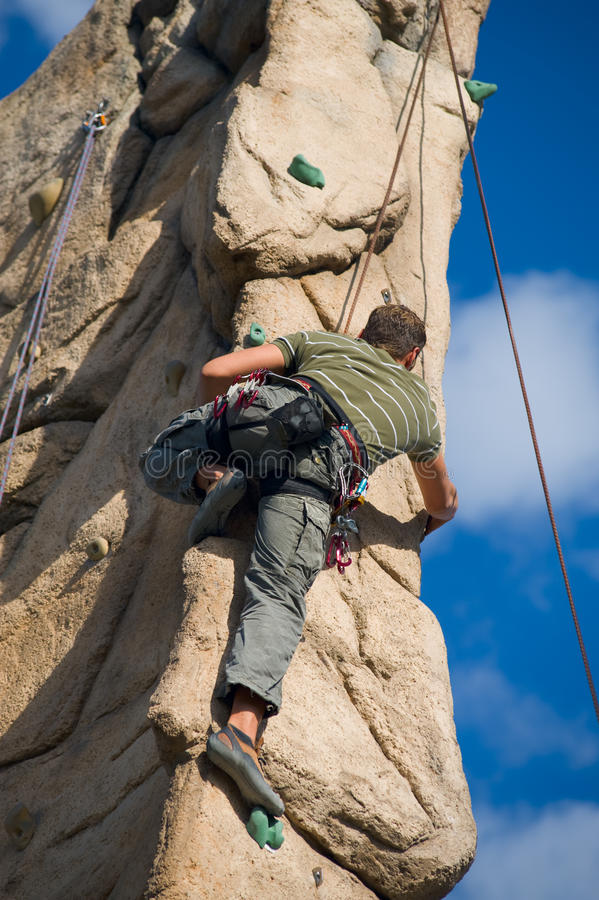 Download Climber stock image. Image of line, cling, artificial - 9522587