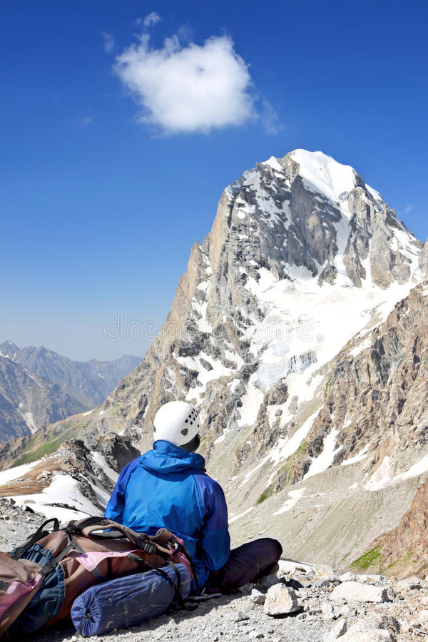 Download Climber with a backpack stock photo. Image of hike, expedition - 17904962