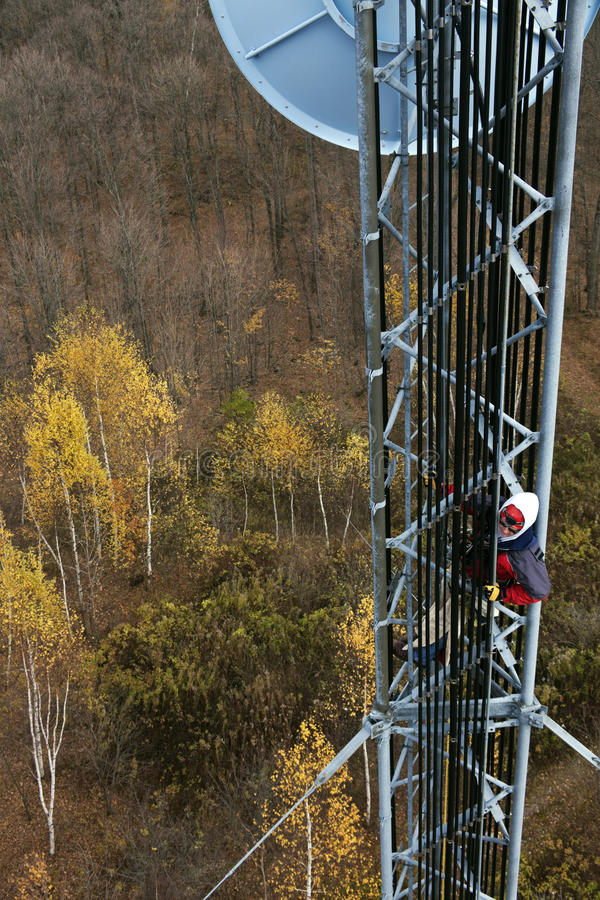 Download Climber On Cell Tower Stock Photos - Image: 26548353