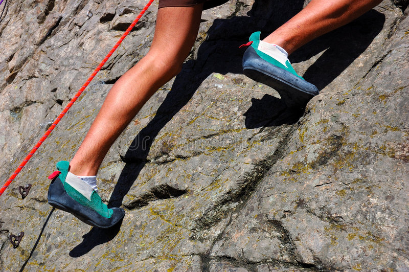 Climber legs stock images