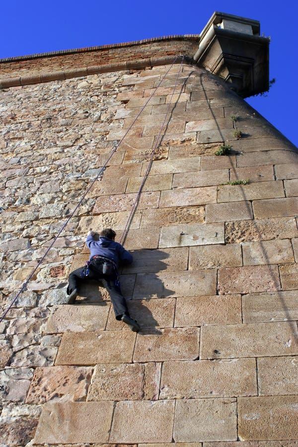Free Climber On Stone Building Stock Image - 1373971
