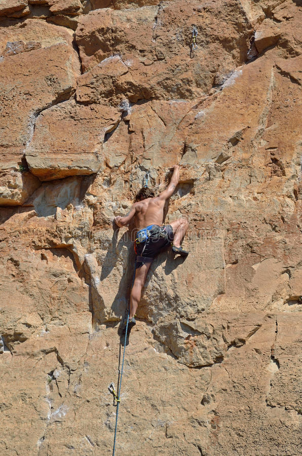 Free Climber On The Trek Stock Images - 82176494