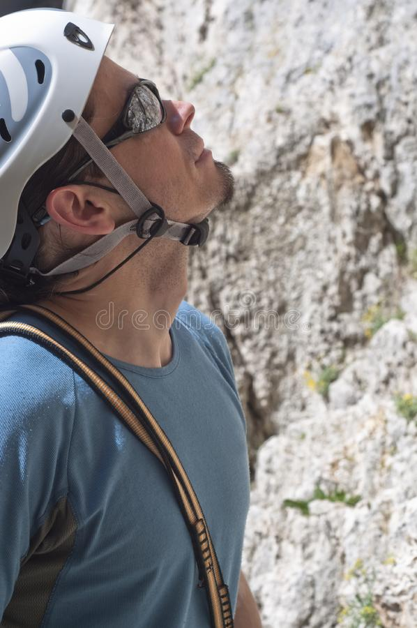 Download Climber previewing a route stock image. Image of adrenaline - 13928681