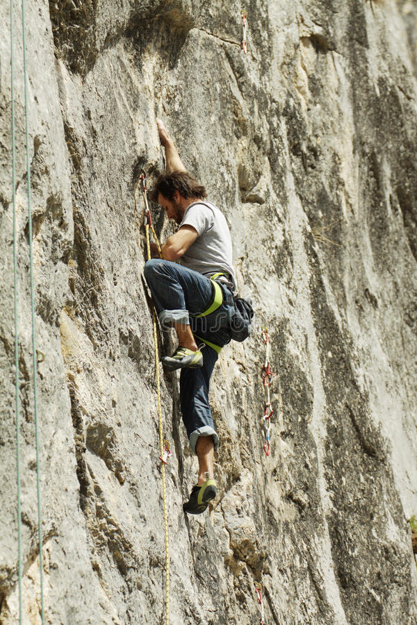 Climber On The Rock Editorial Photography
