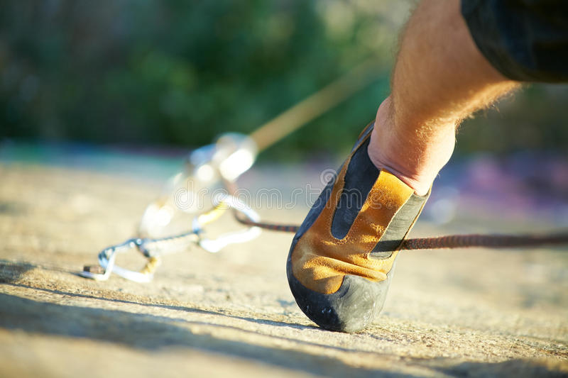 Download Climber's foot stock image. Image of mountain, climbing - 20549753