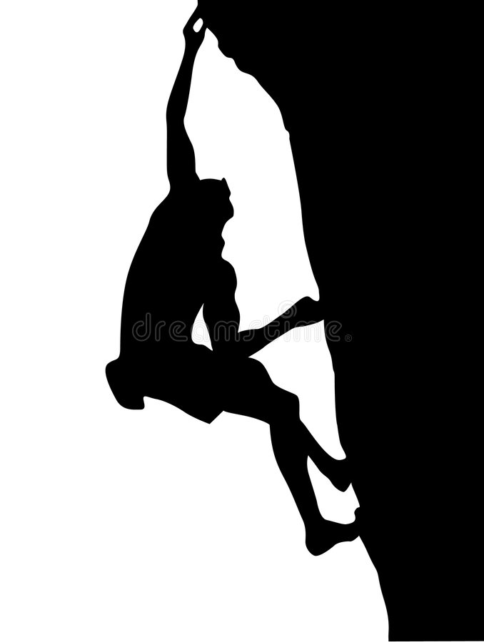 Climber silhouette stock illustration
