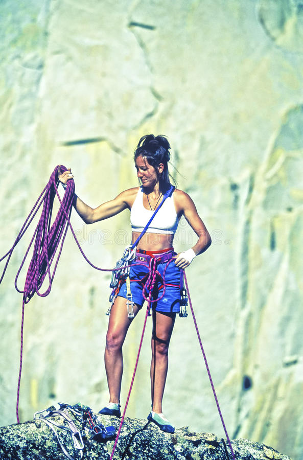 Download Climber On The Summit. Royalty Free Stock Photos - Image: 22547068