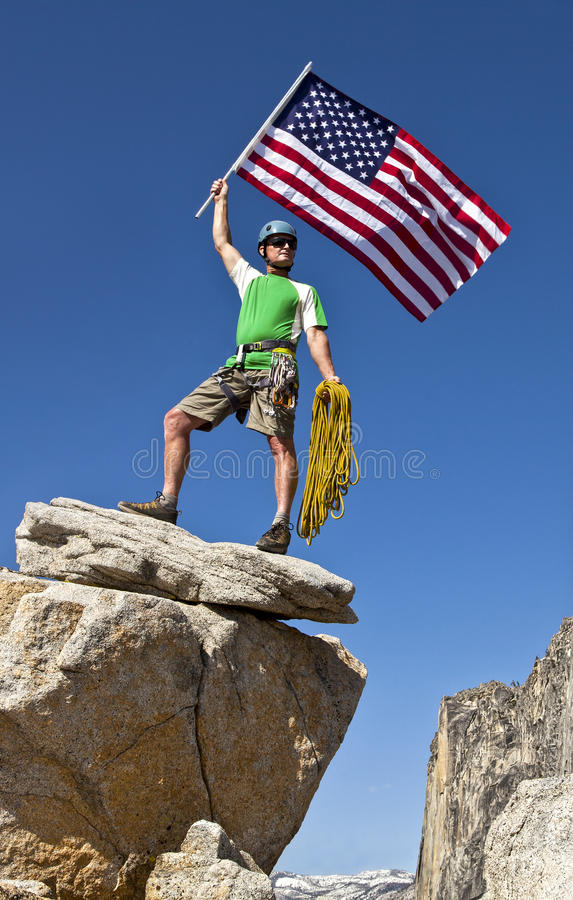 Download Climber on the summit. stock photo. Image of daring, height - 25138466