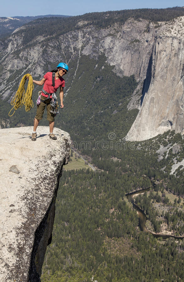 Download Climber on the summit. stock photo. Image of climber - 25138794