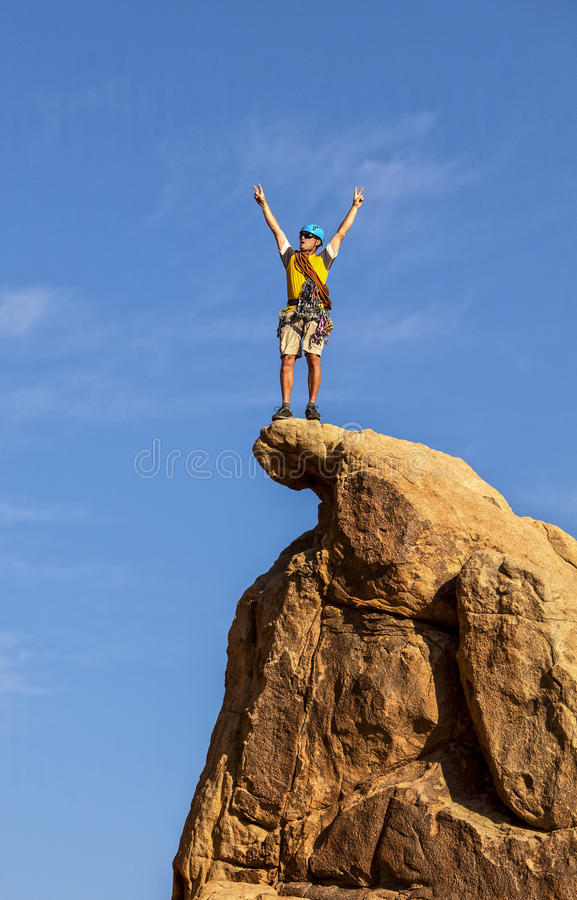 Download Climber On The Summit. Stock Image - Image: 25139281