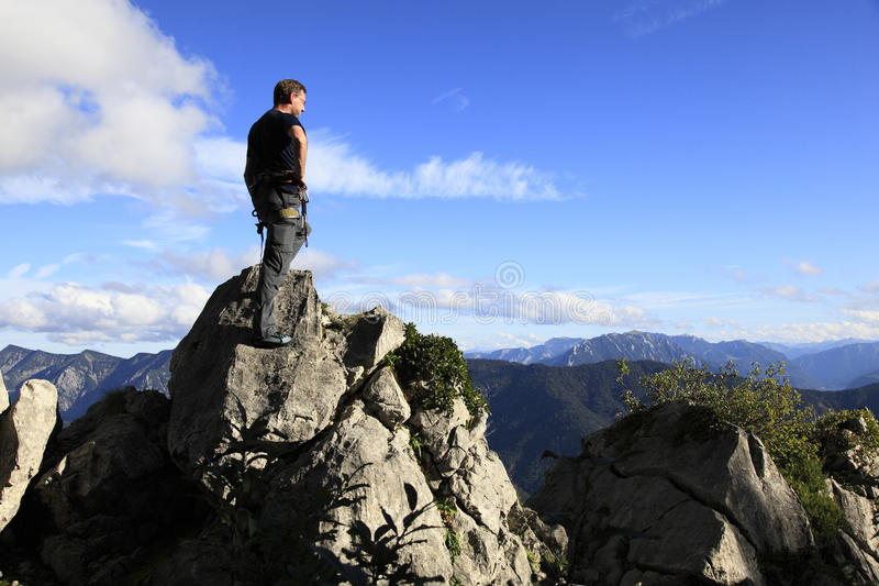 Climber On Top Royalty Free Stock Images