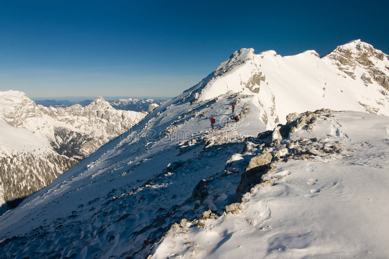 Download Climbers on the ascent stock photo. Image of fresh, landscape - 4373108