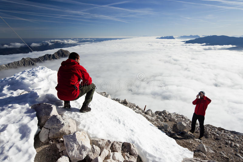 Download Climbers On The Mountain Peak Stock Photo - Image: 28449276