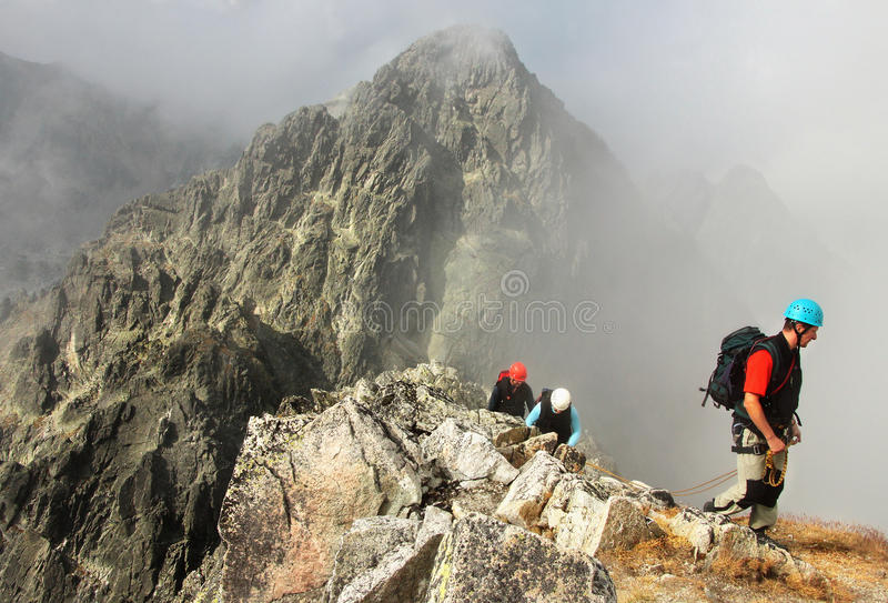 Climbers in Mountains royalty free stock image