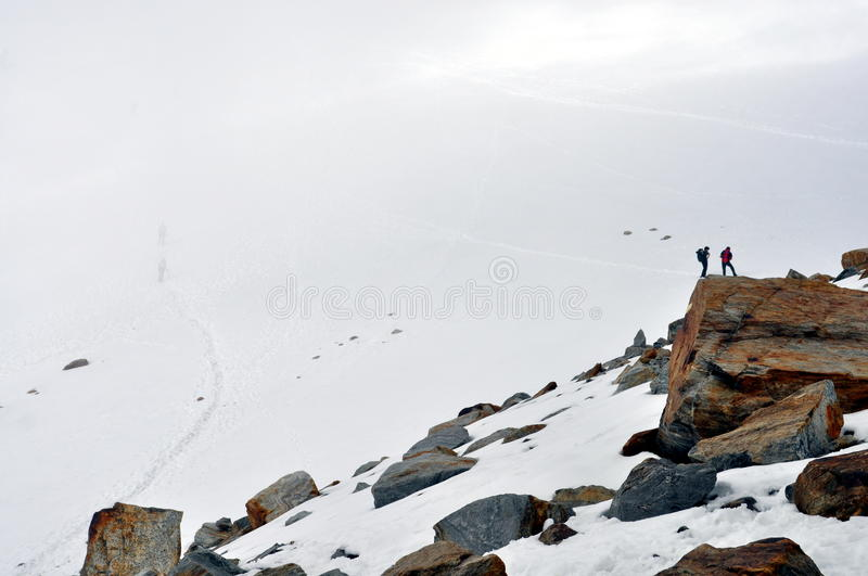 Download Climbers On A Rock Of A Glacier Editorial Stock Photo - Image: 33674848