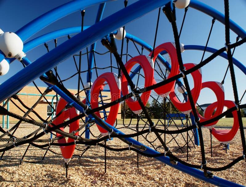 Climbing area on the playground stock image