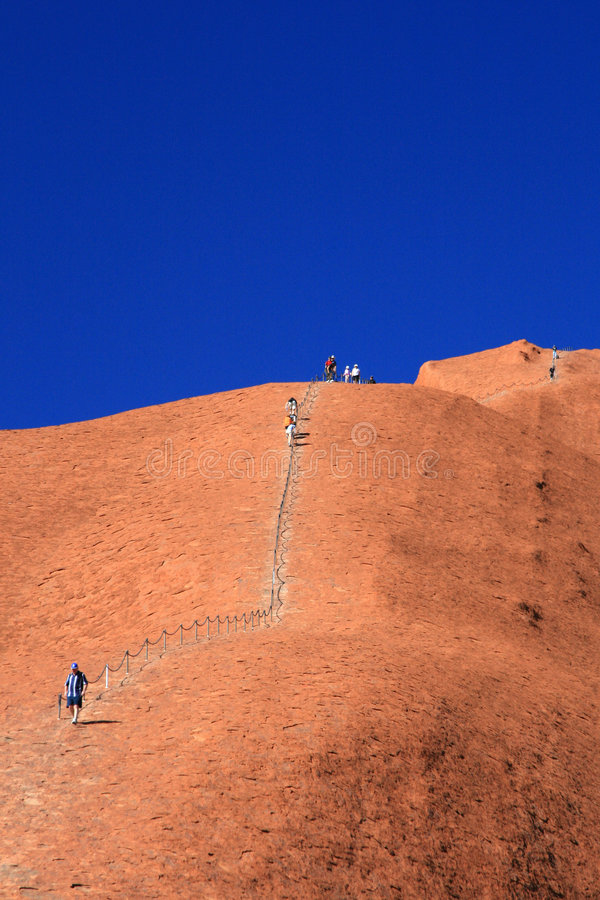Download Climbing Ayres Rock -  Australia Editorial Stock Image - Image: 5912024