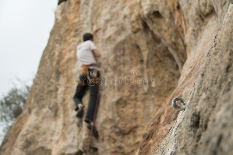 A climbing bolt stock photography