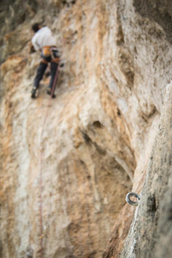 A climbing bolt royalty free stock image
