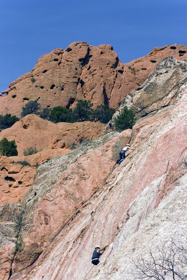 Climbing in Clolorado Springs. royalty free stock images