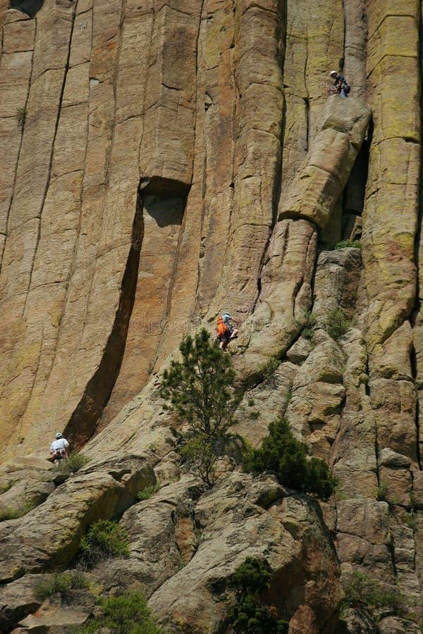 climbing devils tower στοκ εικόνες με δικαίωμα ελεύθερης χρήσης