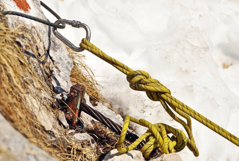 Rock climbing gear stock photos