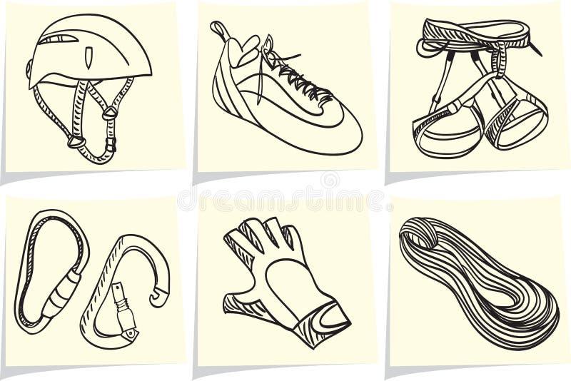 Download Climbing Equipment On Memo Sticks Stock Vector - Image: 24086958
