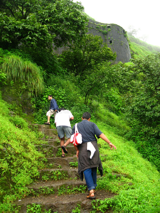 Download Climbing The Fort Lohgad stock photo. Image of vegetation - 3163696