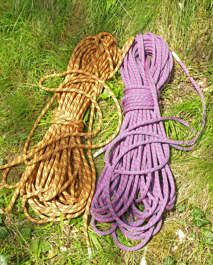 Download Climbing half ropes stock image. Image of ropes, detail - 23499439