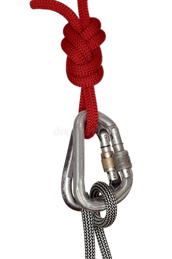 Climbing knot with hooks stock photo