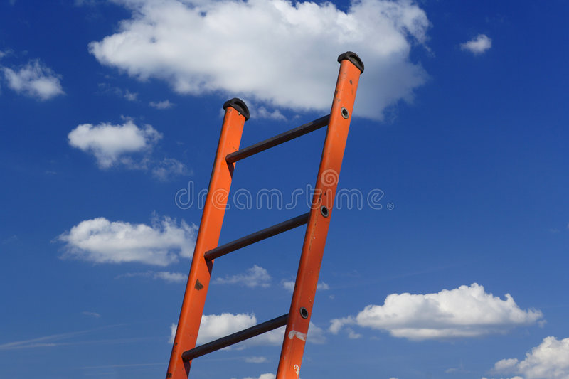 Download Climbing the ladder stock photo. Image of bright, inspiration - 6429616