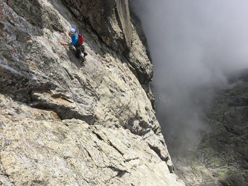 Climbing on Lomnicky peak royalty free stock photos