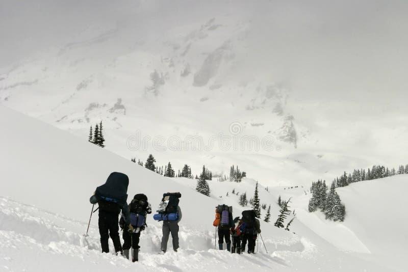 Climbing Into the Mist royalty free stock photo