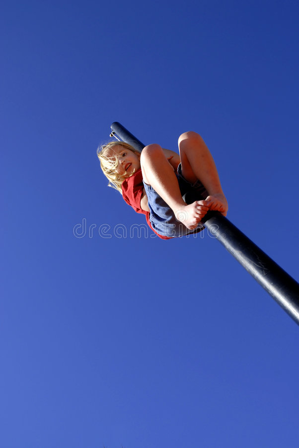 Download Climbing Pole stock photo. Image of safe, overcome, fearsome - 3593632