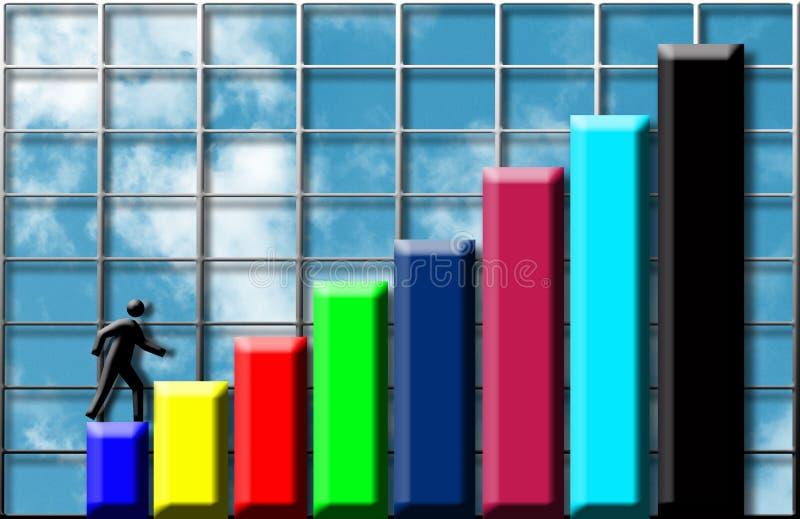 Climbing profits stock illustration