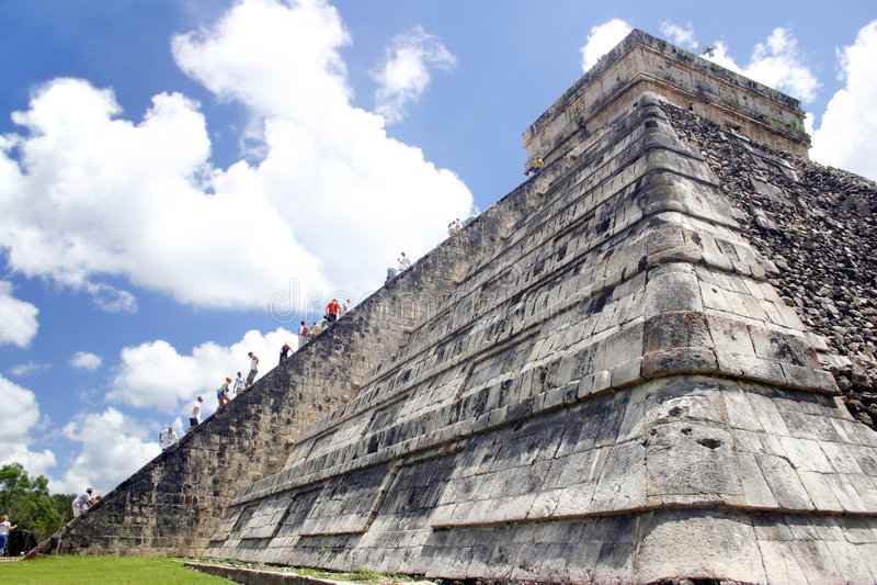 Climbing the Pyramid royalty free stock photography