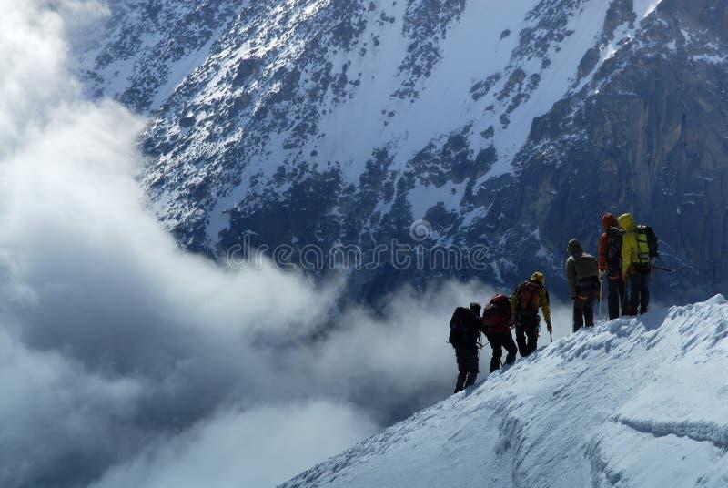 Climbing the Ridge stock image