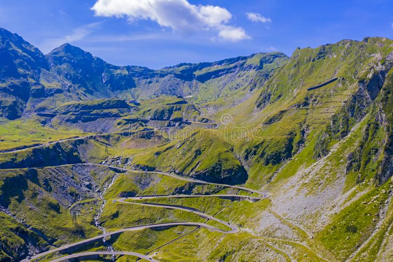 Climbing road in mountains stock photography