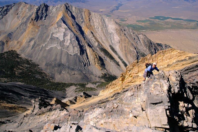 Climbing Rocky Ridge stock photos