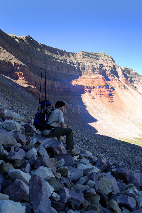 Free Climbing Rocky Ridge Stock Photo - 6365280