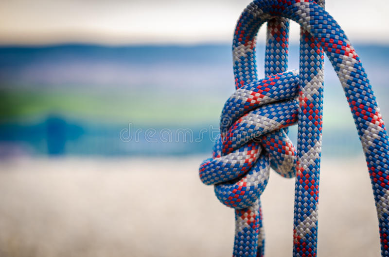 climbing rope stock photography