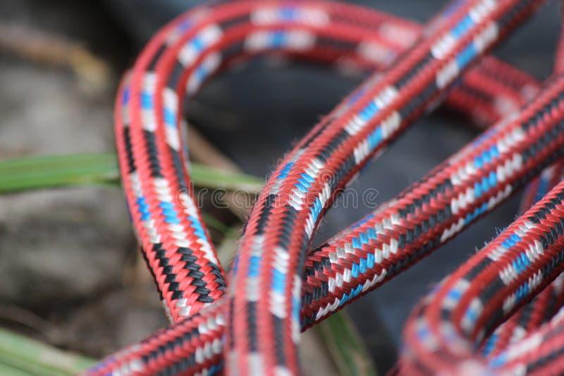 Climbing Rope Closeup royalty free stock photo