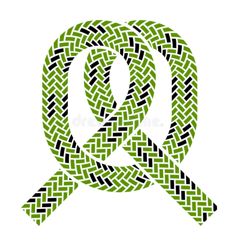 Climbing rope knot symbol stock photos