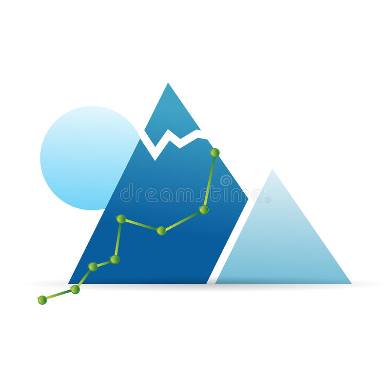 Climbing route illustration design. Over a white background royalty free illustration